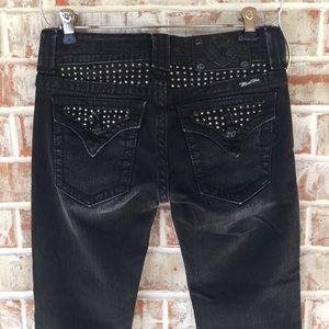 Miss Me Black Rhinestone Jeweled Bootcut Jeans 26